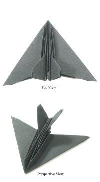 Origami Stealth Fighter - how to make origami airplanes origami stealth aircraft