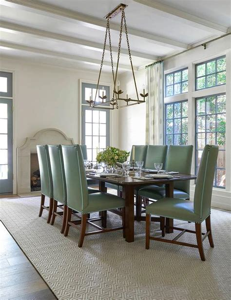 green dining room chairs dining room transom window transitional dining room