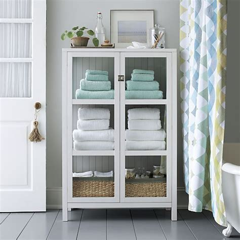 Kraal White Cabinet Crate And Barrel Daniel O Connell Towel Storage Bathroom