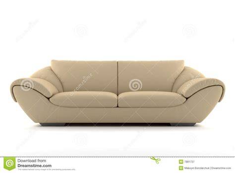on the sofa pics beige sofa isolated on white stock image image 7881737