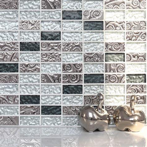 Mosaic Tile Installation 23x48 Bathroom Mosaic Tiles Blend Metal Easy