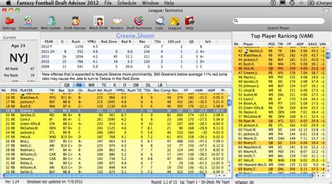 Fantasy Football Apple Mac Draft Software