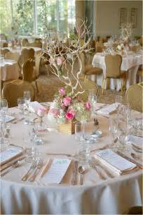 blush and gold centerpieces vintage blush and gold wedding at ashton gardens 171 houston