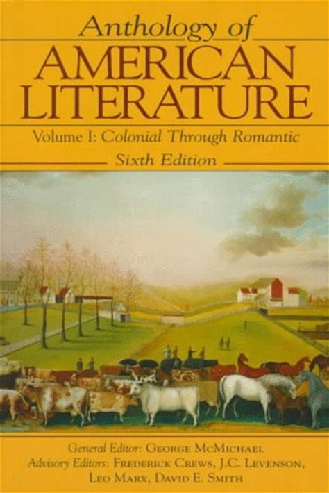 about anthology ink anthologies volume 1 books anthology of american literature volume 1 colonial