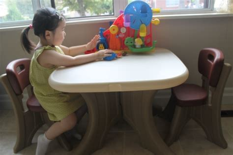step 2 traditions table and chairs step 2 new traditions table chairs set review
