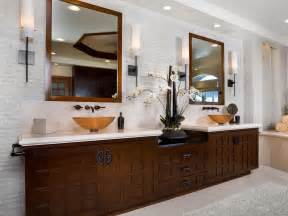 Mirrored Wall Sconces Asian Inspired Contemporary Bathroom Christopher Grubb