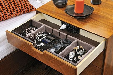 bedside table with charging station charging station drawer in bedside table organized