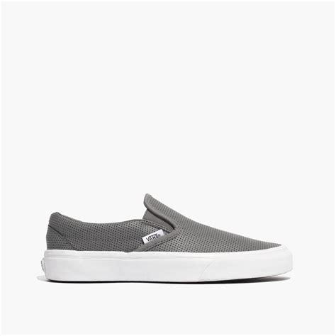 light gray slip on vans lyst madewell vans 174 slip on sneakers in grey