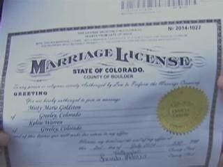 Denver County Clerk And Recorder Marriage License Colorado Court Of Appeals Says Boulder Clerk Can Keep Issuing Marriage Licenses To