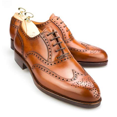 mens shoes oxfords wingtip oxford in cognac calf carmina