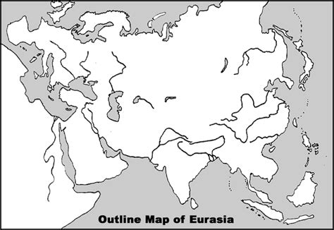 Outline Map Of Russia And Northern Eurasia by Outline Physical Map Of Eurasia