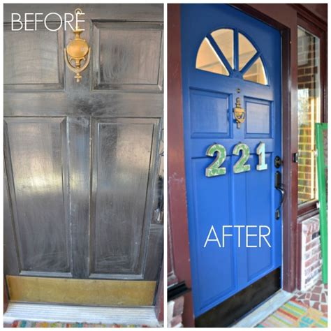 front door before and after shut the front door after it s already painted review