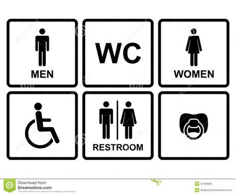 Symbol For Bathroom by Vector Restroom Icons Stock Vector Image 51386965