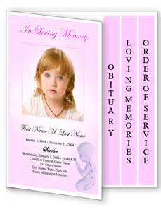 Free 4 Page Graduated Fold Funeral Program Templates Funeral Program Templates 4 Page Graduated Pink Angel