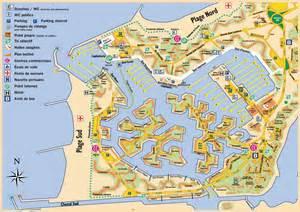 la carte et le plan du port camargue agence immobili 232 re a