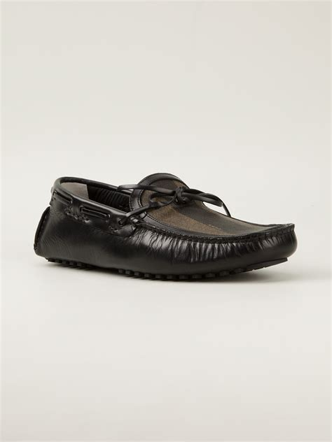 fendi shoes fendi driving shoe in black for lyst