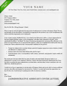 administrative cover letter template administrative assistant executive assistant cover
