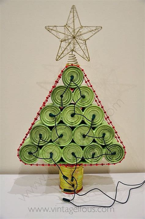 diy 225 rbol de navidad con latas recicladas arizona tea and tree