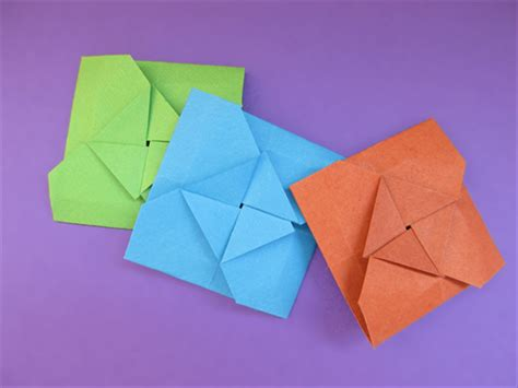 Folded Square Origami Paper - how to fold a square origami envelope
