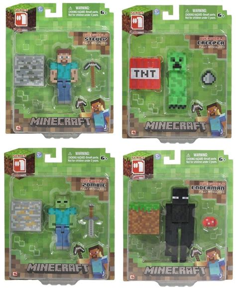Minecraft Papercraft Toys R Us - 4x new minecraft overworld creeper enderman
