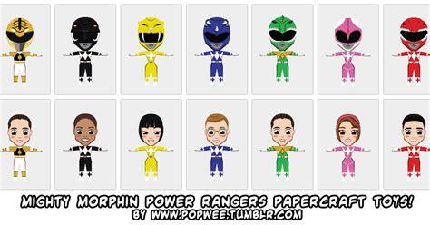 Papercraft Power Rangers - ninjatoes papercraft weblog mighty morphin power rangers
