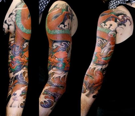 japanese tattoo on arm arm japanese dragon tattoo by nico tattoo crew