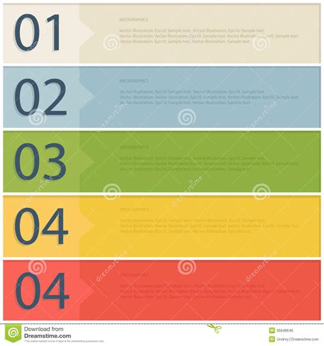 format file eps banner design template stock vector image of info