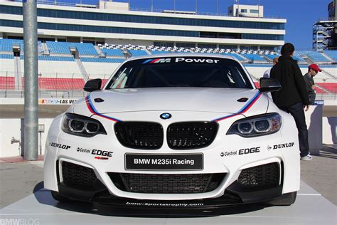 first bmw bmw m235i racing car first exclusive photos