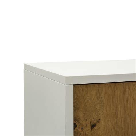 credenza bassa moderna credenza in legno bianco e naturale a due ante qualit 224 al