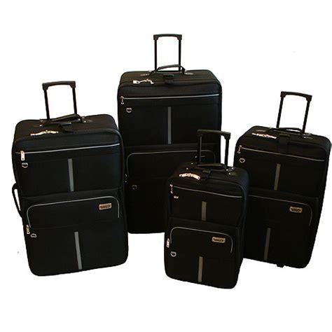 rugged luggage rugged cargo jumbo 4 luggage set black grey luggage walmart