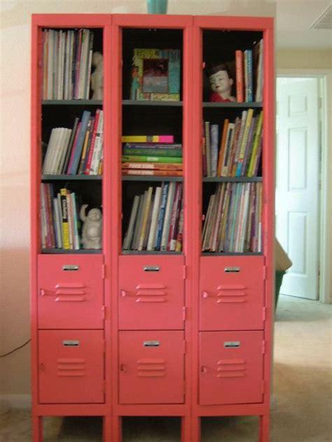 colorful locker bookcase bookcases