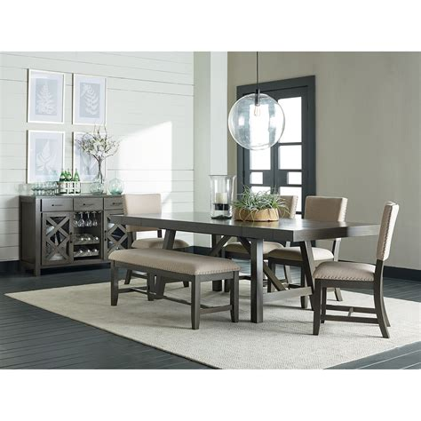 Upholstery Omaha by Standard Furniture Omaha Grey Upholstered Dining Bench Olinde S Furniture Dining Benches