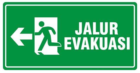 Stiker Tanda Jalur Evakuasi jual keselamatan tanda jalur evakuasi gambar k3 safety