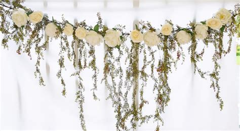 Wedding Arch Name by Wedding Arch Garland Cascading Greenery And Roses Silk