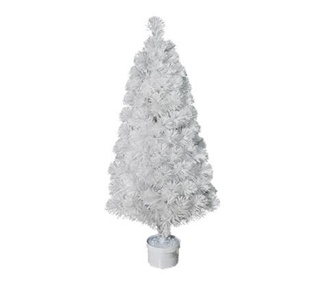 120cm white fibre optic christmas tree crazy sales