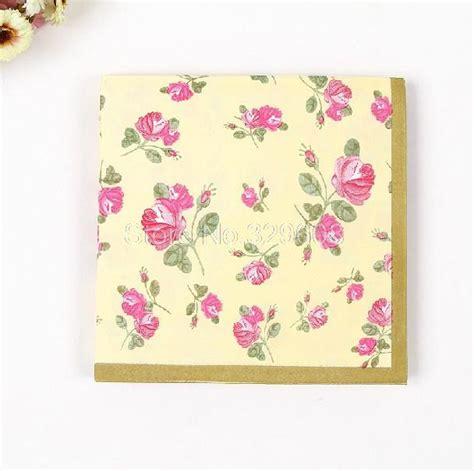 Tisu Motif Napkin Decoupage 106 jual decoupage paper napkin kertas tisu decoupage small flowers ibanwd