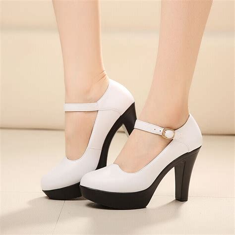 best high heels for comfort size 34 40 high heeled shoes thick heel pumps