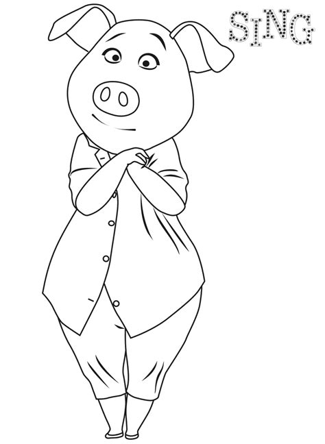 coloring page of a sing coloring pages best coloring pages for