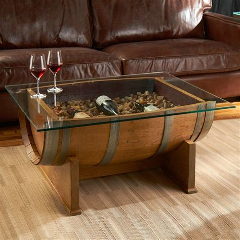 whiskey barrel coffee table top best barrel coffee table ideas on whiskey barrel