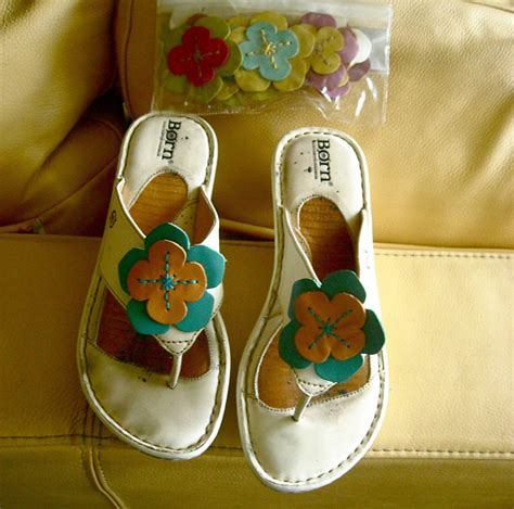 chagne colored flower shoes items similar to vintage born white flower change sandals