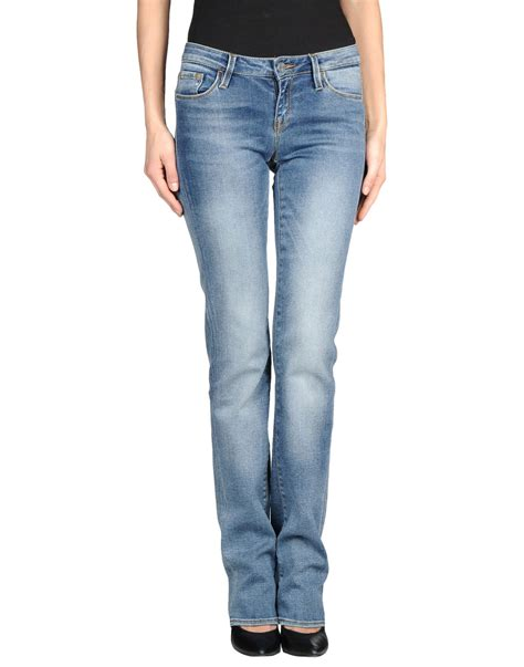 Miss Sixty 992 Lblue Silver lyst miss sixty faded bootcut in blue