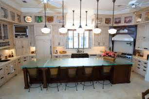 glass kitchen island glass tops for cool and unusual kitchen designs from thinkglass digsdigs