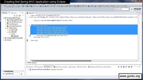 tutorial eclipse web application spring mvc tutorials 05 creating first spring mvc web