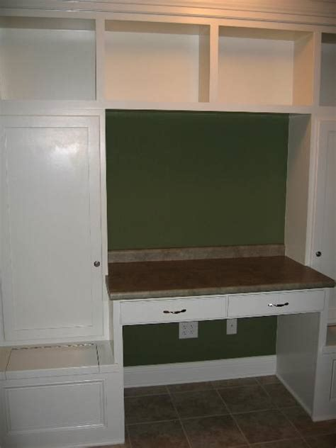 mud room built in wall unit cabinets book shelves desk