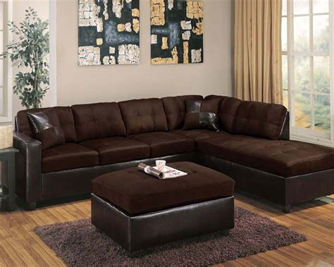 Chocolate Sectional Sofa Sectional Sofa Set Chocolate By Acme Ac51325set