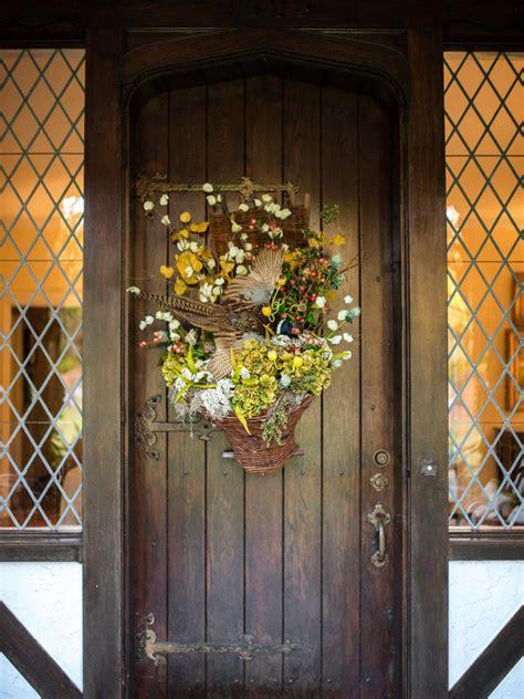 English Tudor Cottage rustic farm and garden style front door decor hgtv