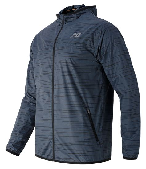 New Balance Windcheater Jacket new balance reflective windcheater jacket in black for