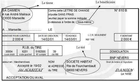 Pr Sentation Lettre De Change Chapitre 4 Les R 232 Glements Partie 2 1 La Mobilisation Des Cr 233 Ances Commerciales Les Documents