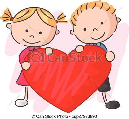 imagenes niños en caricaturas eps vectores de poco ni 241 os amor caricatura tenencia