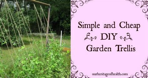 Diy Garden Trellis Ideas Simple And Cheap Diy Garden Trellis Our Heritage Of Health